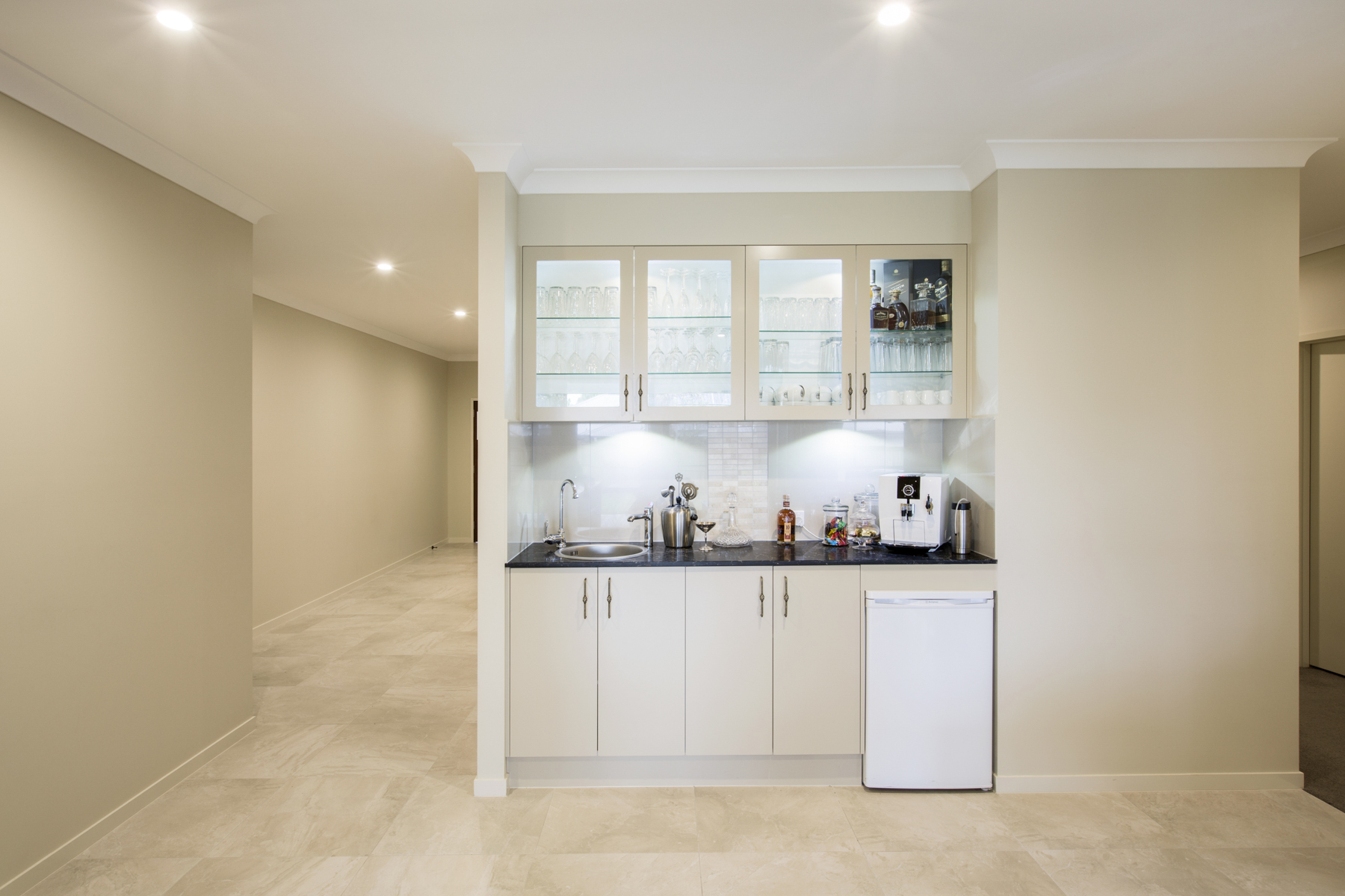 contemporary modern kitchenette bar design brisbane with vanilla ...